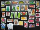 Vtg 80s Mello Smello Scratch & Sniff Stickers French Fries Taco Pizza Pickle Car