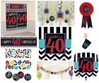CHEVRON Age 40 - Happy 40th Birthday PARTY ITEMS Celebrate Decorations Tableware