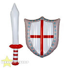 INFLATABLE SWORD AND SHIELD ENGLAND FLAG BLOW UP TOY GLADIATOR KNIGHT POOL PARTY