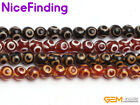 Round Tibetan Dzi Agate Prayer Worry Old Gemstone Beads For Jewelry Making 15""