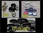 """12-DURA-SNAP UPHOLSTERY BUTTONS #30-#36 WITH 3/4"""" -1 1/2"""" SCREW STUDS-ANY COLOR"""