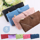 UK New Many Colors Leather Wallet Womens Handbag Bag Long Button Clutch Purse