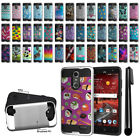 For ZTE Grand X 4 X4 Z956 Z957 Damon Shockproof Brushed Hybrid Cover Case + Pen