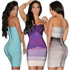 Sexy Backless Strapless Mini Dress Women Bodycon Bandage Stretch Party Gown New