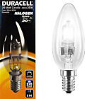 Duracell Halogen Candle 28w SES E14 Warm White Energy Saving Light Bulb Lamps