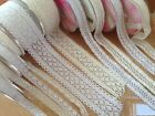 ELEGANZA LACE (cotton) Ribbon Weddings - 5 designs & 4 lengths - Ivory & White