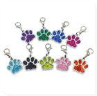 Glitter dog paw +Lobster clasp Hang Pendant Dangle Charms for Necklaces bracelet