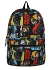 Star Wars Retro Characters Comic Book Style Black Backpack