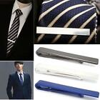 Men Stainless Steel Tone Simple Necktie Tie Bar Clasp Clip Clamp Pin Gift 4CM BO