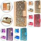 For LG K10 Premier LTE ROCK Rhinestone BLING Wallet Crystal Design Case