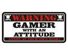 Gamer Warning Decal Video Game Playstation PS3 PS4 XBox Gloss Vinyl Sticker HGV