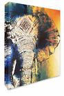 Elephant Wall Picture Abstract/Watercolour Style Canvas Print Wall Art Decor