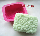 Fashion Lovely Flowers Flexible Silicone Mold Handmade Soap Mold Free Shipping