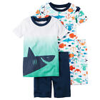 Carter's 4 Piece Blue/White Shark Printed Tops with Matching Pants - Toddler