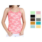 Women's Adjustable Camisole Seamless Lace Top Spandex Nylon - One Size Fits Most
