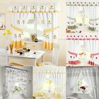 KITCHEN CURTAINS READY MADE CURTAIN PAIRS TAPE TOP PENCIL PLEAT READY TO HANG
