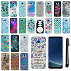 For Samsung Galaxy S8 G950 PATTERN HARD Protector Back Case Phone Cover + Pen