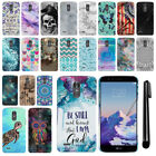 "For LG Stylo 3 Stylus 3 LS777 L84VL 5.7"" PATTERN HARD Back Case Cover + Pen"