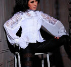 RQBL RQ-BL Red Queens Black Legion White Gothic Vampire Steampunk Blouse NEW!