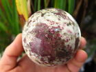 541g NATURAL RARE red Tourmaline QUARTZ CRYSTAL sphere ball HEALING @j32