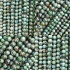 "Natural African Turquoise Gemstone Round Beads 16"" 4mm 6mm 8mm 10mm"