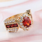 New Style Fashion Vintage Women's Cool Jewelry Red Rhinestone Ring Size 6/7/8/9