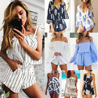 New Women Ladies Clubwear V Neck Playsuit Bodycon Party Jumpsuit&Romper Trousers