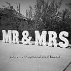 MR & MRS Battery Operated Rustic Metal Wedding Bride Love Sign Marquee LED Light