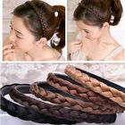 Women Girls Braided Synthetic Hair Plaited Fishtail Headband Hairband Accessory