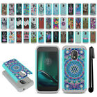 "For Motorola Moto G4 Play 5"" XT1609 Hybrid Bumper Shockproof Case Cover + Pen"