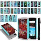 For ZTE N817 Quest Uhura Hybrid Bumper Shock Proof Hard TPU Case Cover + Pen