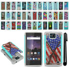 For ZTE Tempo N9131 Hybrid Bumper Shockproof Hard TPU Case Cover + Pen