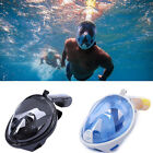 Full Dry Face 180° View Snorkeling Mask Snorkel Swimming Goggles W/ Camera Mount