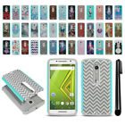 For Motorola Droid MAXX 2 XT1565 2015 Hybrid Bumper Shock Proof Case Cover + Pen