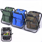 Foldable Multi-Function Backpack Beach Chair With Cooler Bag Storage For Fishing