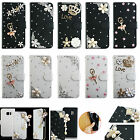 For LG Phone Leather Case Bling Crystal Rhinestone Diamond Wallet Cover Skin TY