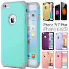 For iPhone 6 6s 7 Plus Hybrid Shockproof Rugged Rubber Protective Case Cover