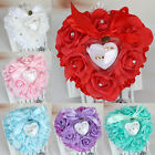 Внешний вид - Rose Wedding Favors Heart Shape Pillow Box Cushion Rhinestone Gift Ring Bearer