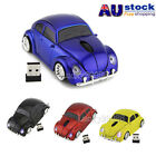 VW Beetle Car 2.4Ghz Wireless Mouse Optical Mice For Laptop PC Mac USB Dongle AU