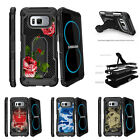 For Samsung Galaxy S8 G950 (2017) Clip Stand Case Affectionate Flowers
