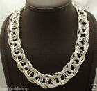 Bold Interlocked Woven Orme Chain Necklace Real Sterling Silver Style 925 QVC