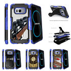 For Samsung Galaxy S8 G950 (2017) Clip Stand Blue Case Sniper