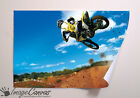MOTORCROSS STUNT GIANT WALL ART POSTER A0 A1 A2 A3