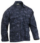navy blue digital camo bdu shirt military style camouflage c