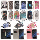 TX For Huawei Samsung Phone Strap High Wallet Card Holder Leather Case Cover