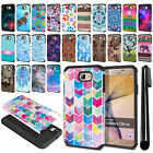 For Samsung Galaxy On7/ On Nxt/ G610 Hybrid Bumper Protective Case Cover + Pen