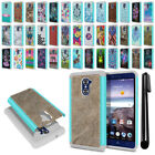 For ZTE Grand X Max 2 2nd Gen/ Z963U Hybrid Bumper Shockproof Case Cover + Pen