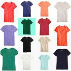 New J.Crew Womens Vintage Slub Cotton Scoopneck Knit Tee T-Shirt XXS-XL #A6166