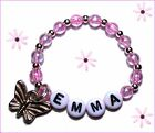 REBORN DOLL BRACELET PERSONALIZED NAME WHITE PINK SILVER GOLDEN ANGEL HEART