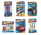 Hot Wheels CARTOLERIA / SET (MATITA / GOMMA / Righello/COLORARE/REGALO DI